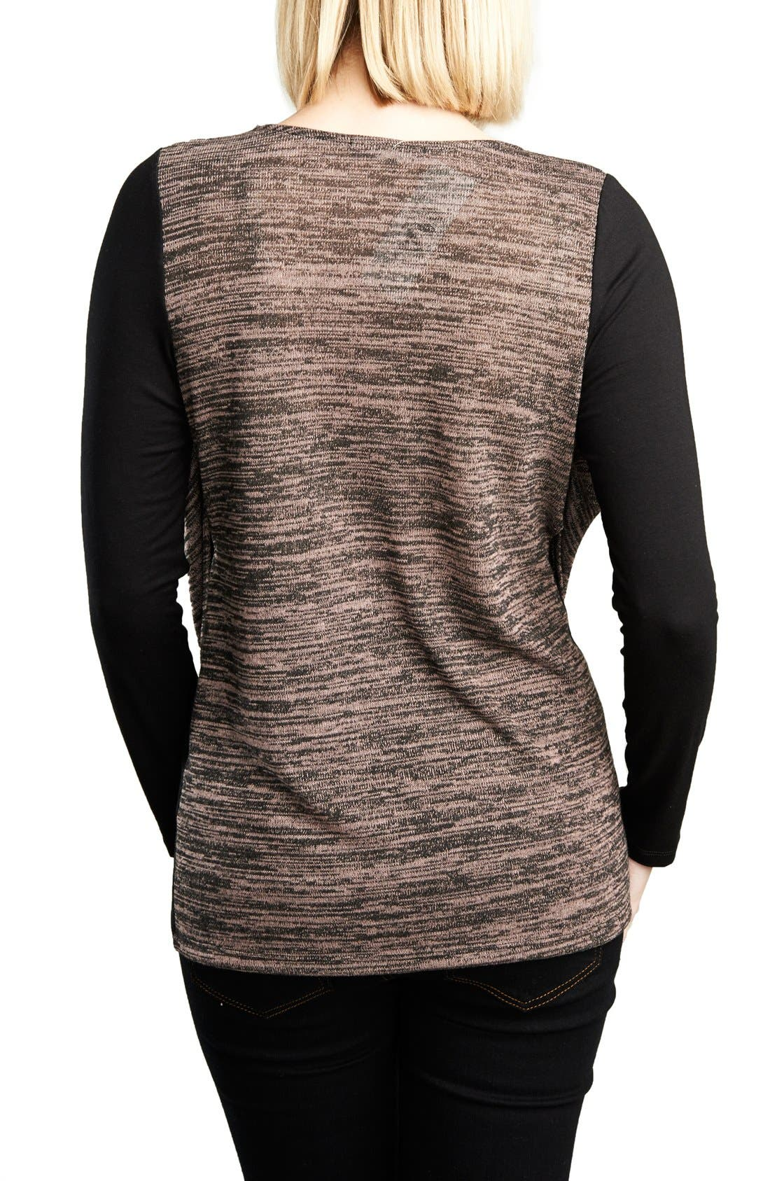 Alternate Image 2  - Maternal America Cowl Neck Nursing Top