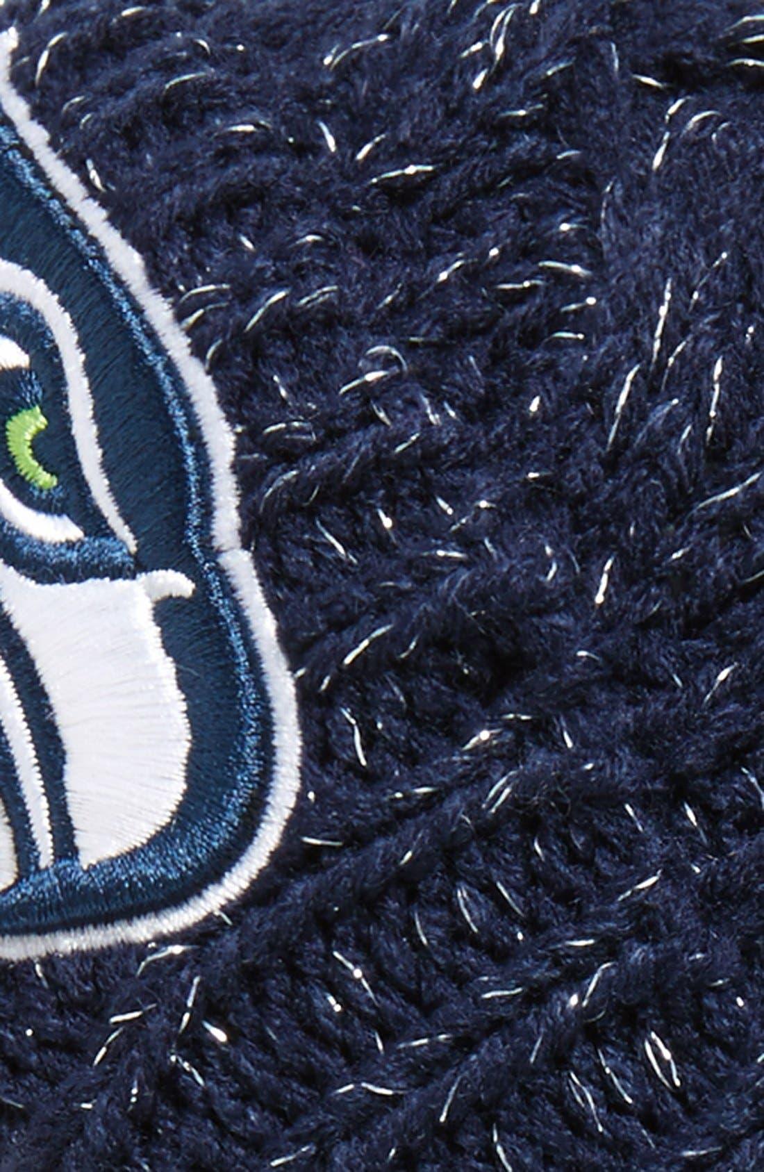 'Seattle Seahawks' Pom Beanie,                             Alternate thumbnail 2, color,                             Navy