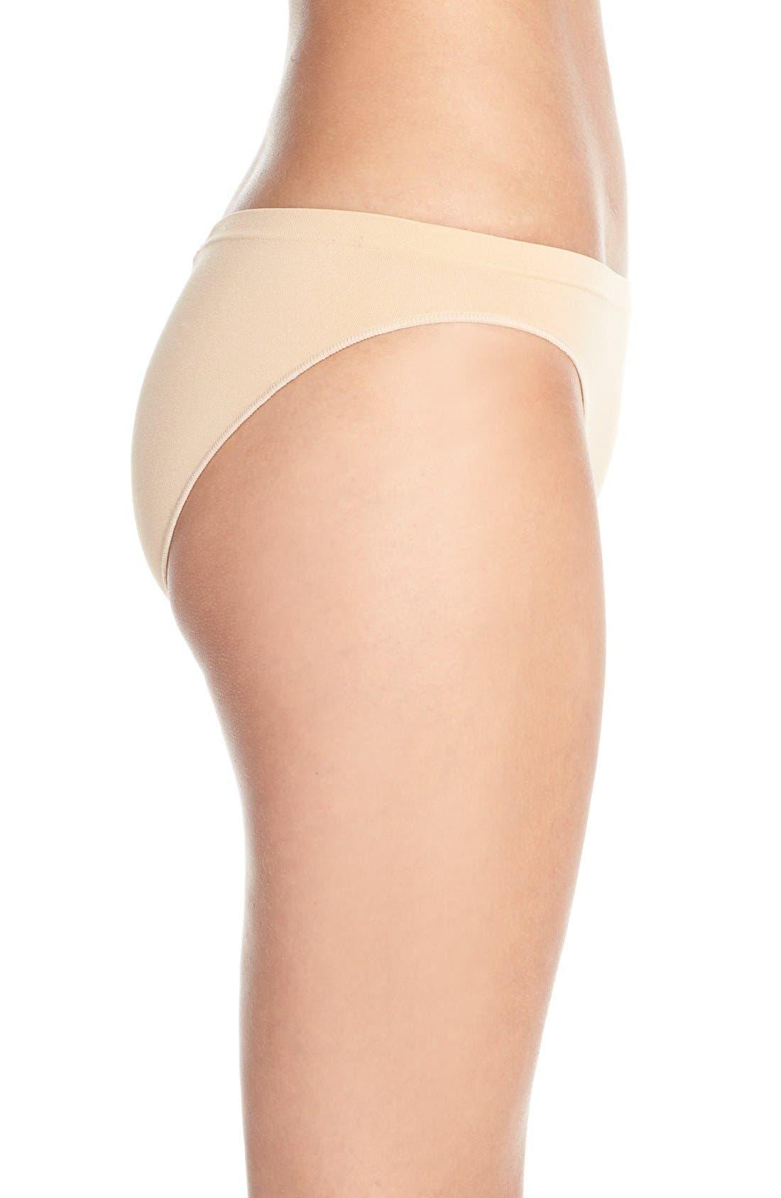 Alternate Image 3  - Calvin Klein 'Pure' Seamless Bikini (3 for $33)