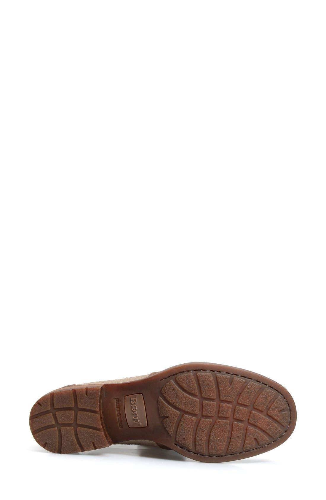 'Posh' Cutout Bootie,                             Alternate thumbnail 4, color,                             Brown/ Castoro Leather