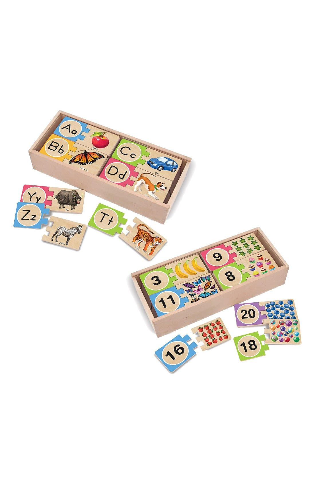 Alternate Image 2  - Melissa & Doug Letters and Numbers Puzzles (Set of 2)