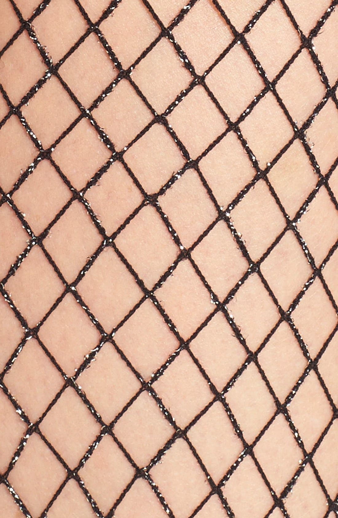 Alternate Image 2  - Nordstrom Oversize Metallic Fishnet Tights