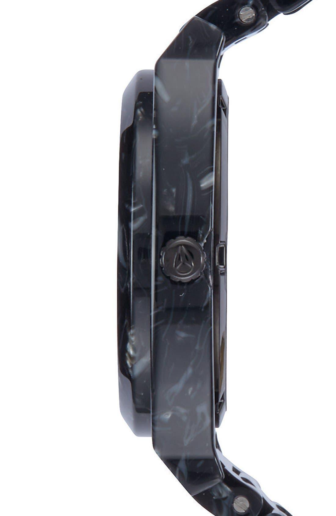 'The Time Teller' Bracelet Watch, 37mm,                             Alternate thumbnail 3, color,                             Black/ Black