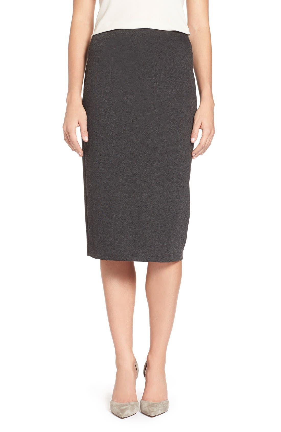 Alternate Image 1 Selected - Vince Camuto Ponte Midi Skirt (Regular & Petite)