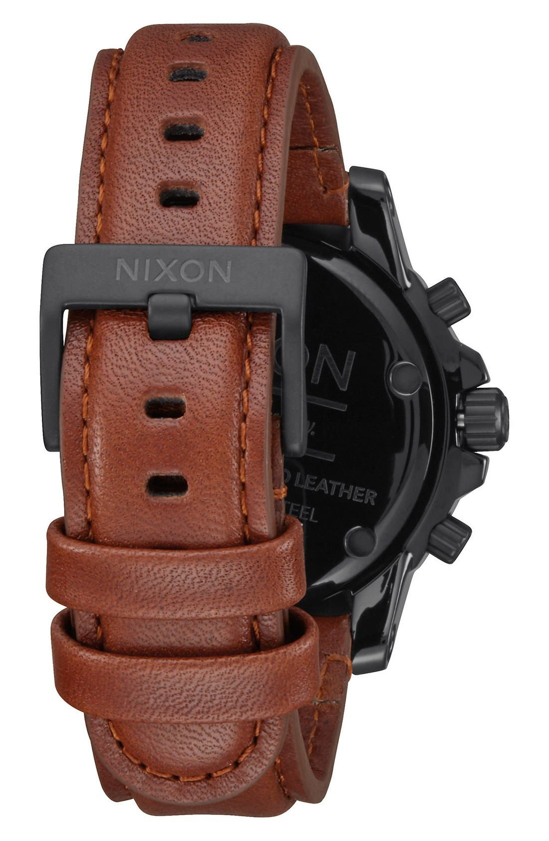 Alternate Image 2  - Nixon 'The Ranger' Chronograph Leather Strap Watch, 44mm