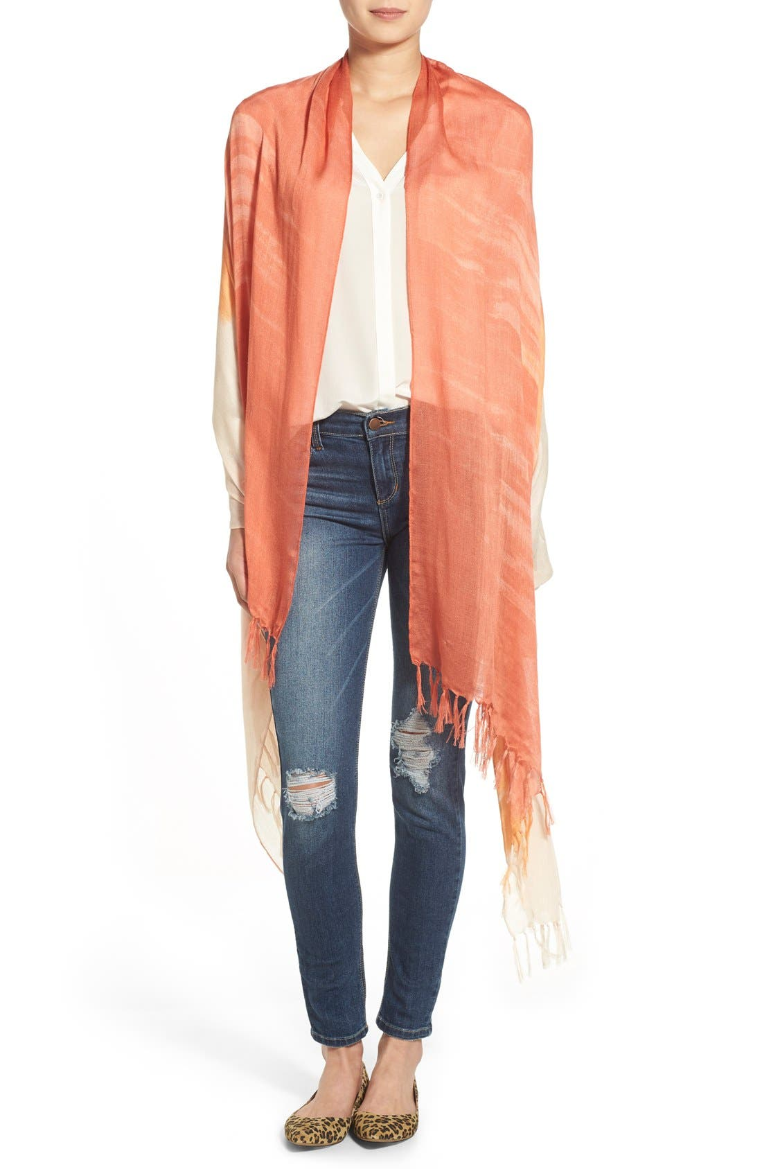 Alternate Image 1 Selected - Nordstrom 'Painted Ombré' Scarf