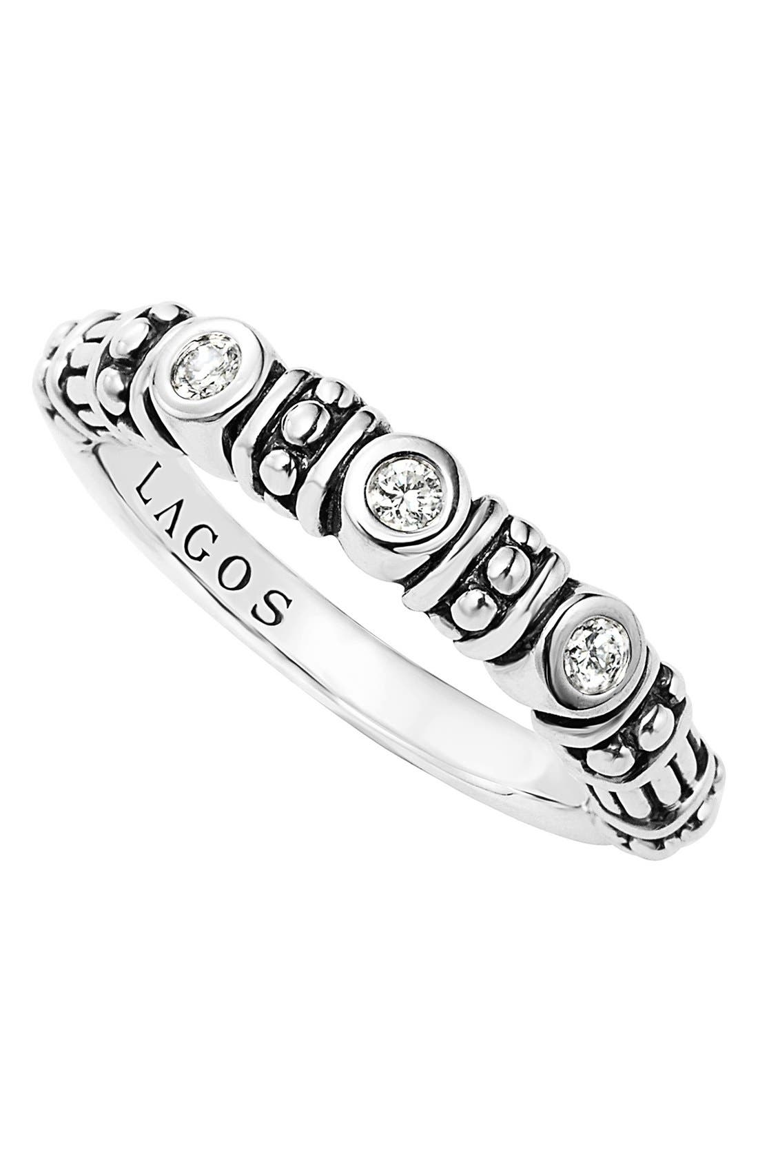 LAGOS Three Diamond Stacking Ring
