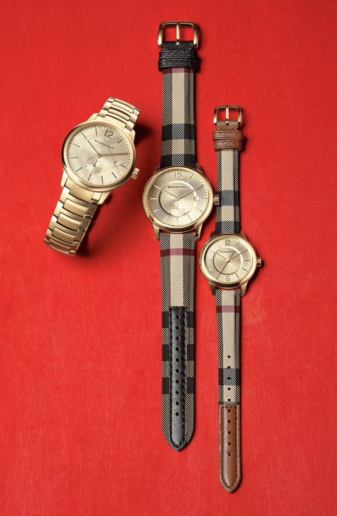 Alternate Image 5  - Burberry Check Stamped Bracelet Watch, 40mm