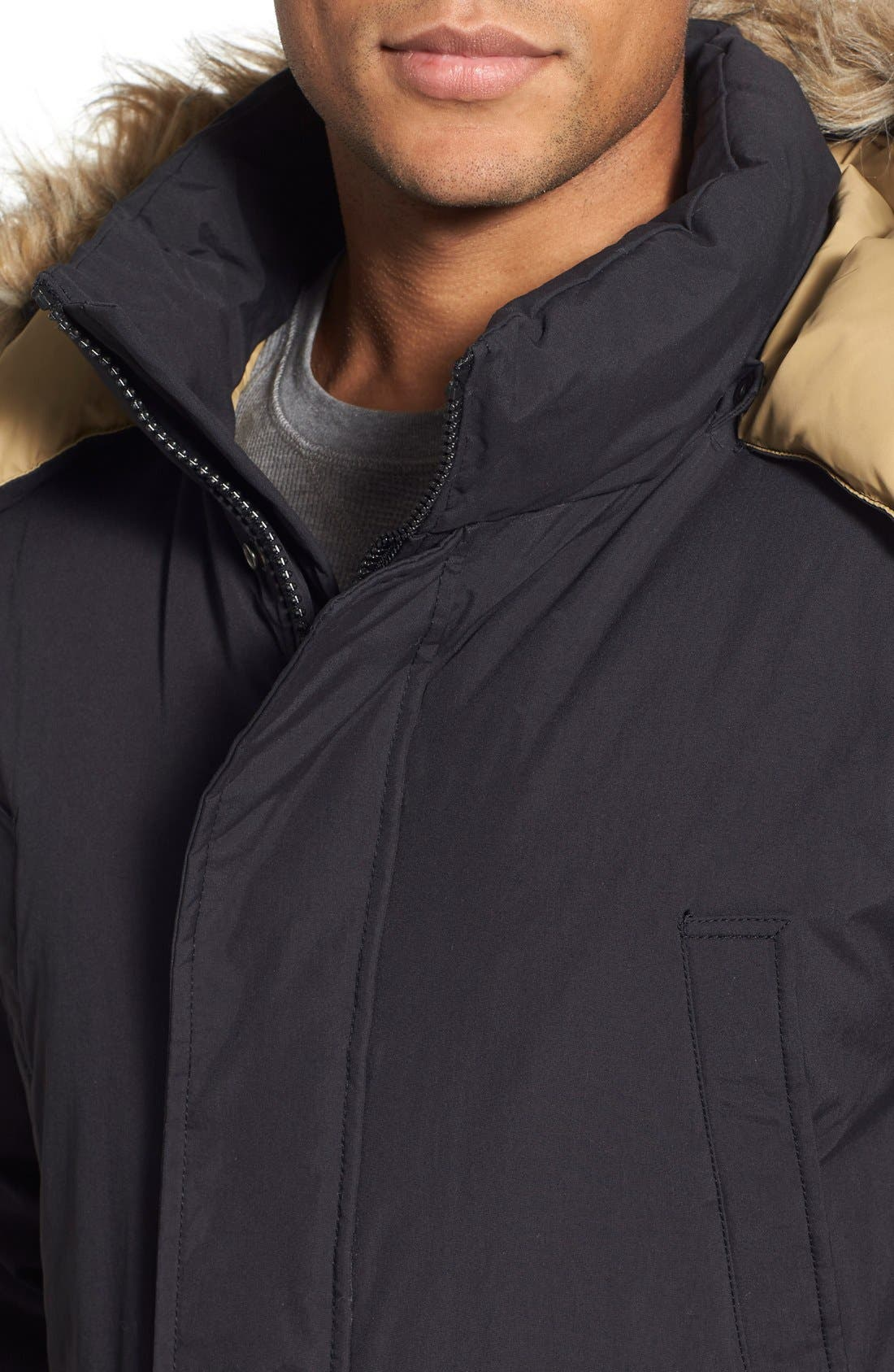 Alternate Image 4  - Schott NYC 'Iceberg' Water Resistant Down Parka with Faux Fur Trim
