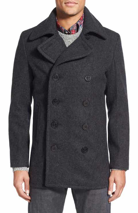 Men's Grey Peacoat & Wool Coats | Nordstrom