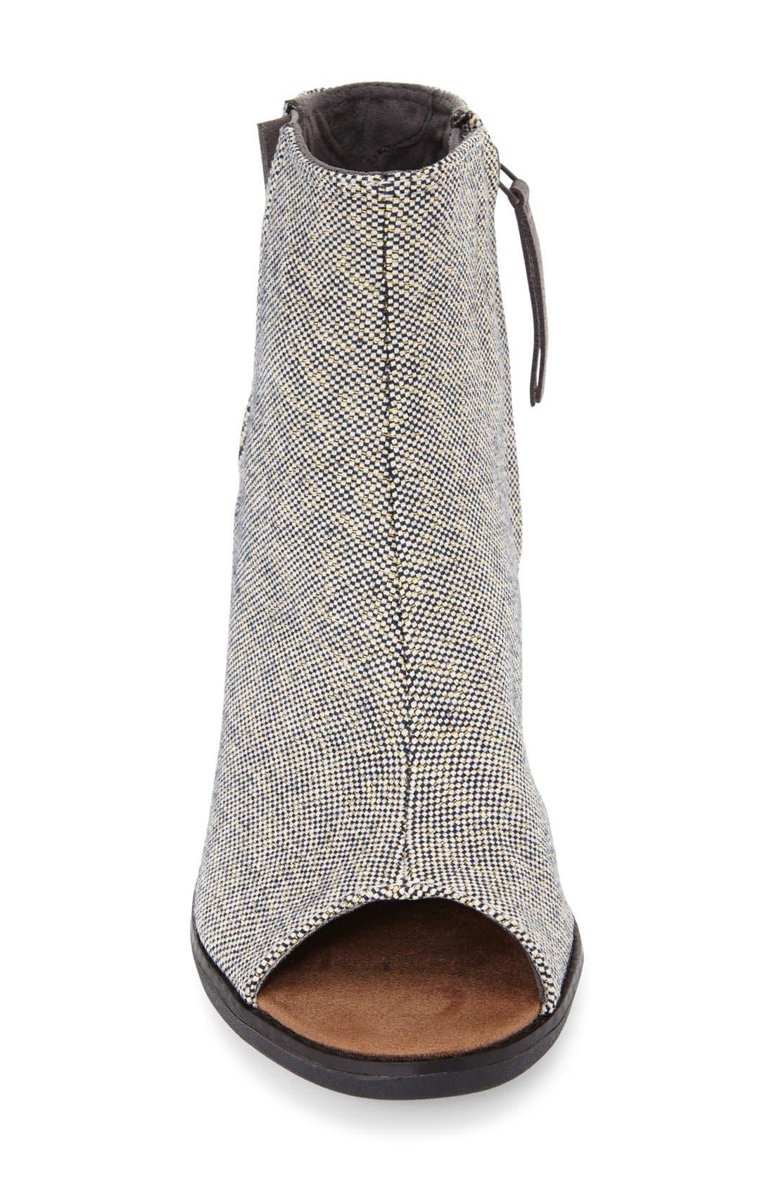 Alternate Image 3  - TOMS 'Majorca' Metallic Peep Toe Bootie (Women)