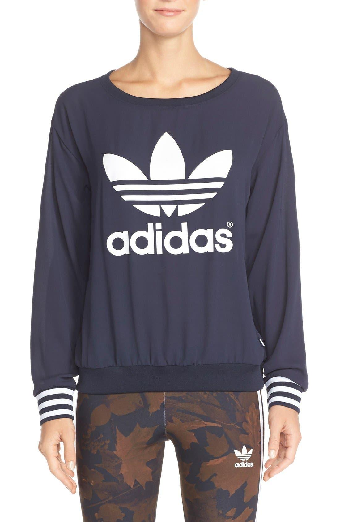 Main Image - adidas Originals Trefoil Crewneck Sweatshirt