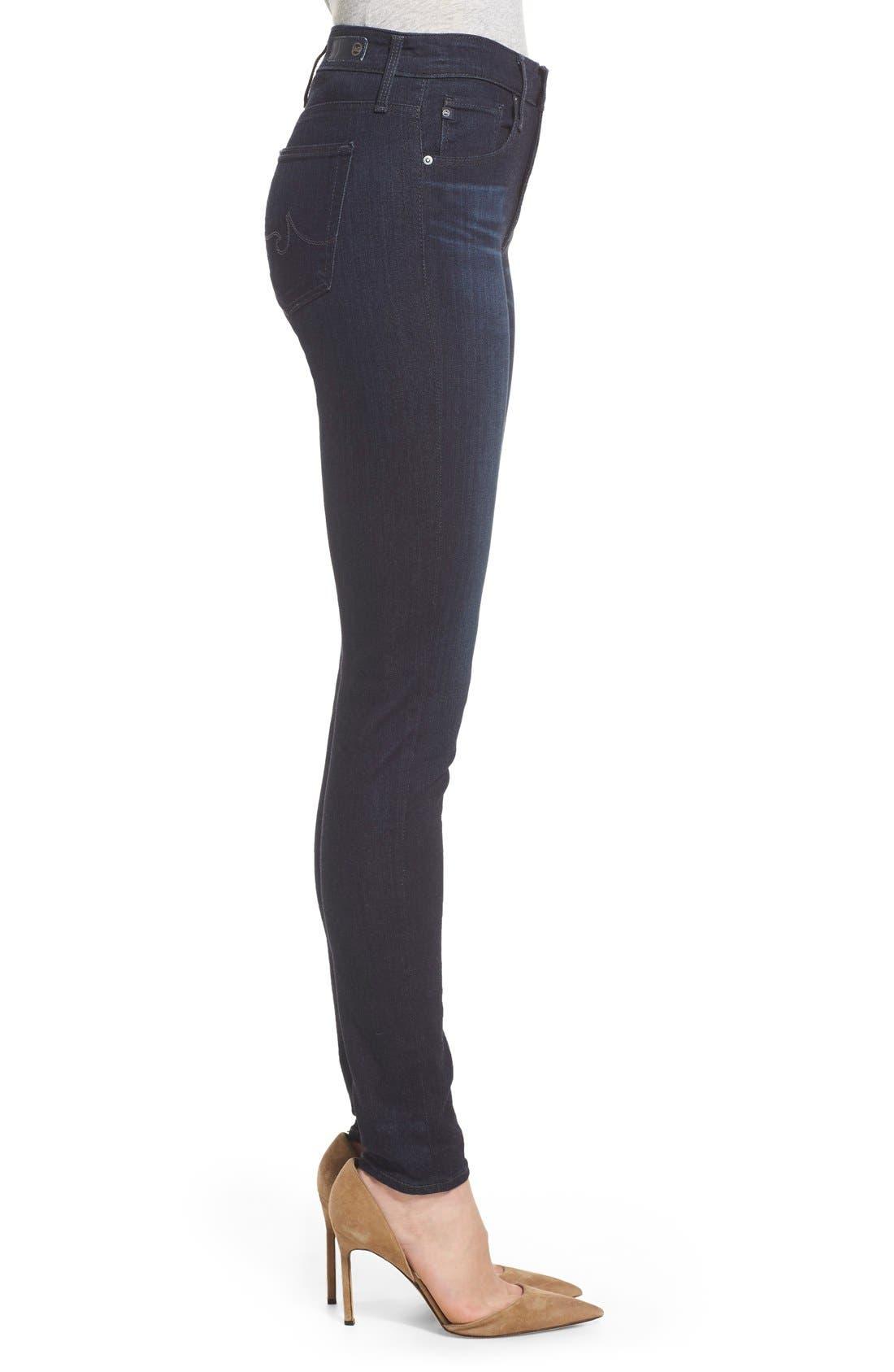 Alternate Image 3  - AG The Farrah High Waist Skinny Jeans (Brooks)