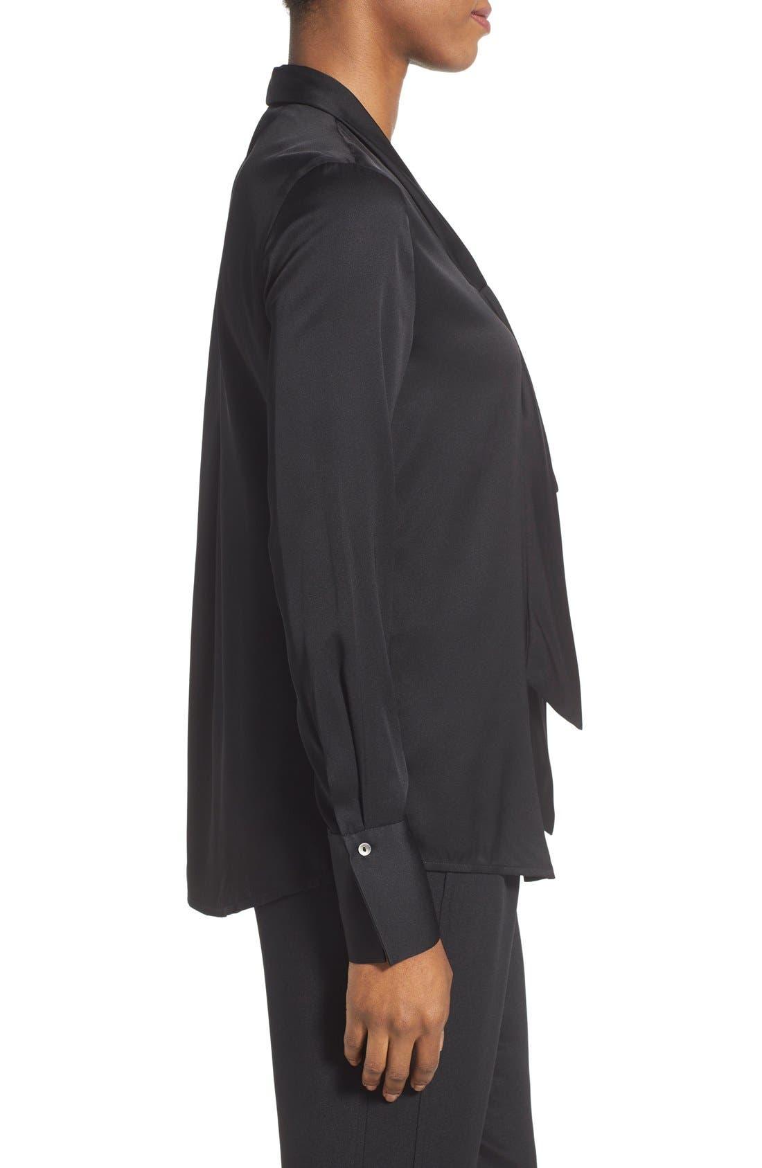 Alternate Image 3  - Kobi Halperin Tie Neck Stretch Silk Blouse