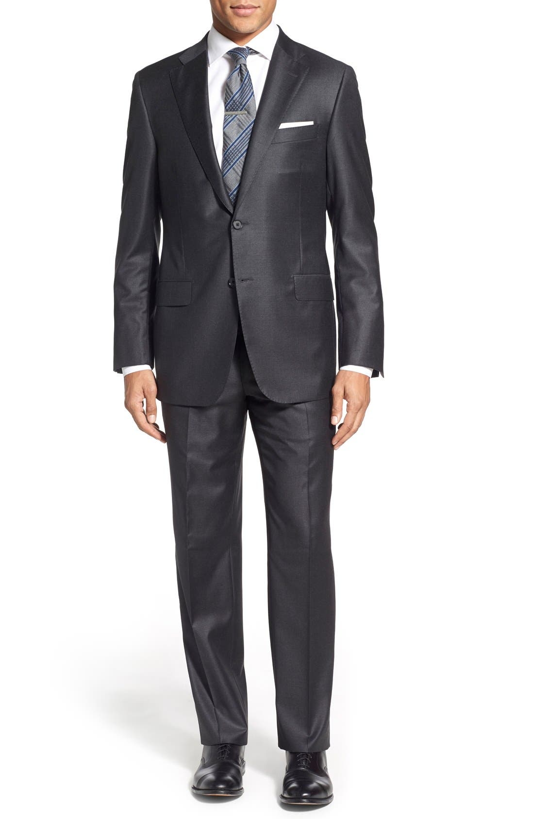 Hickey Freeman 'Beacon - B Series' Classic Fit Solid Wool Suit