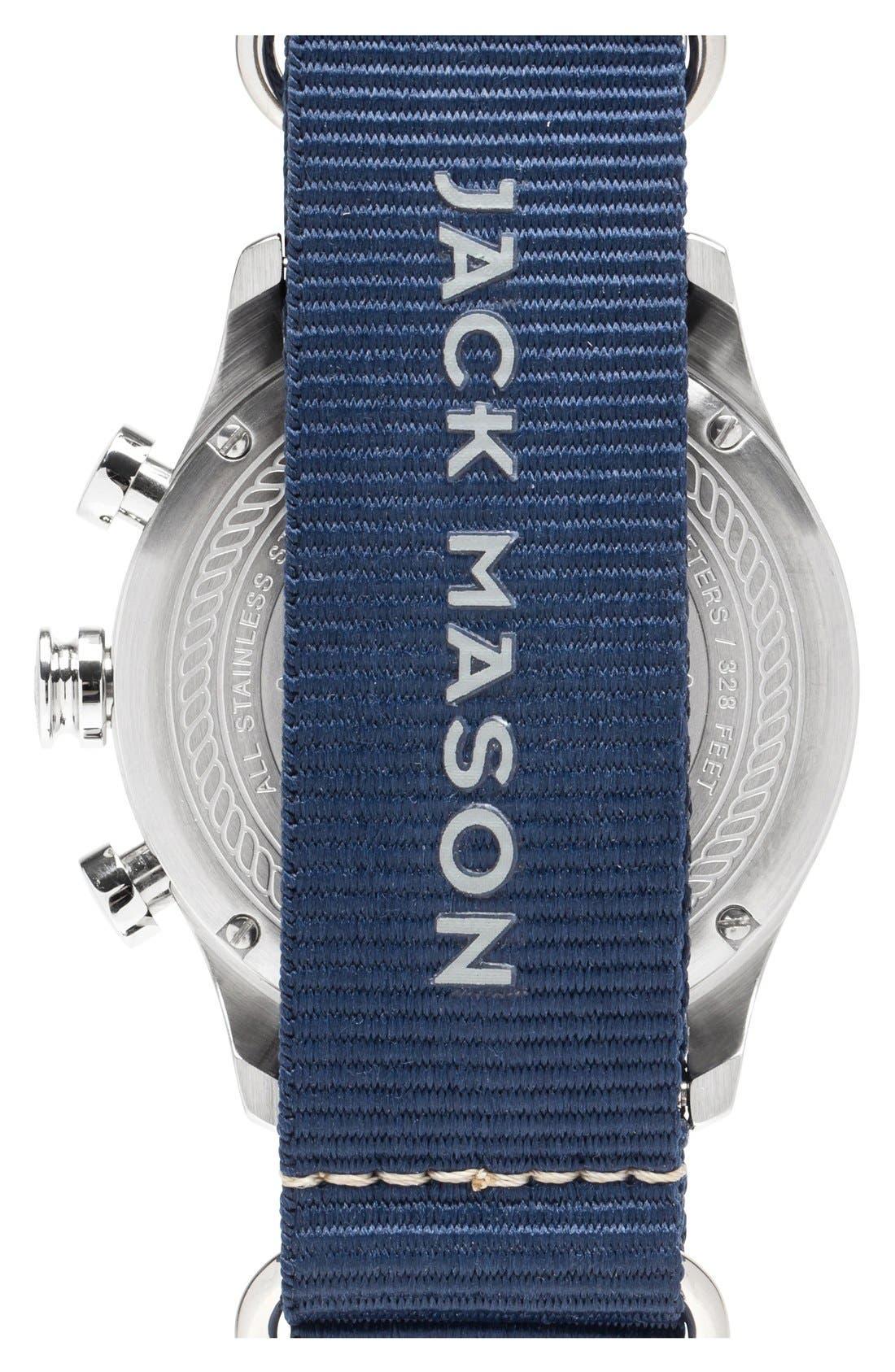 Nautical Chronograph NATO Strap Watch, 42mm,                             Alternate thumbnail 2, color,                             Navy/ Navy