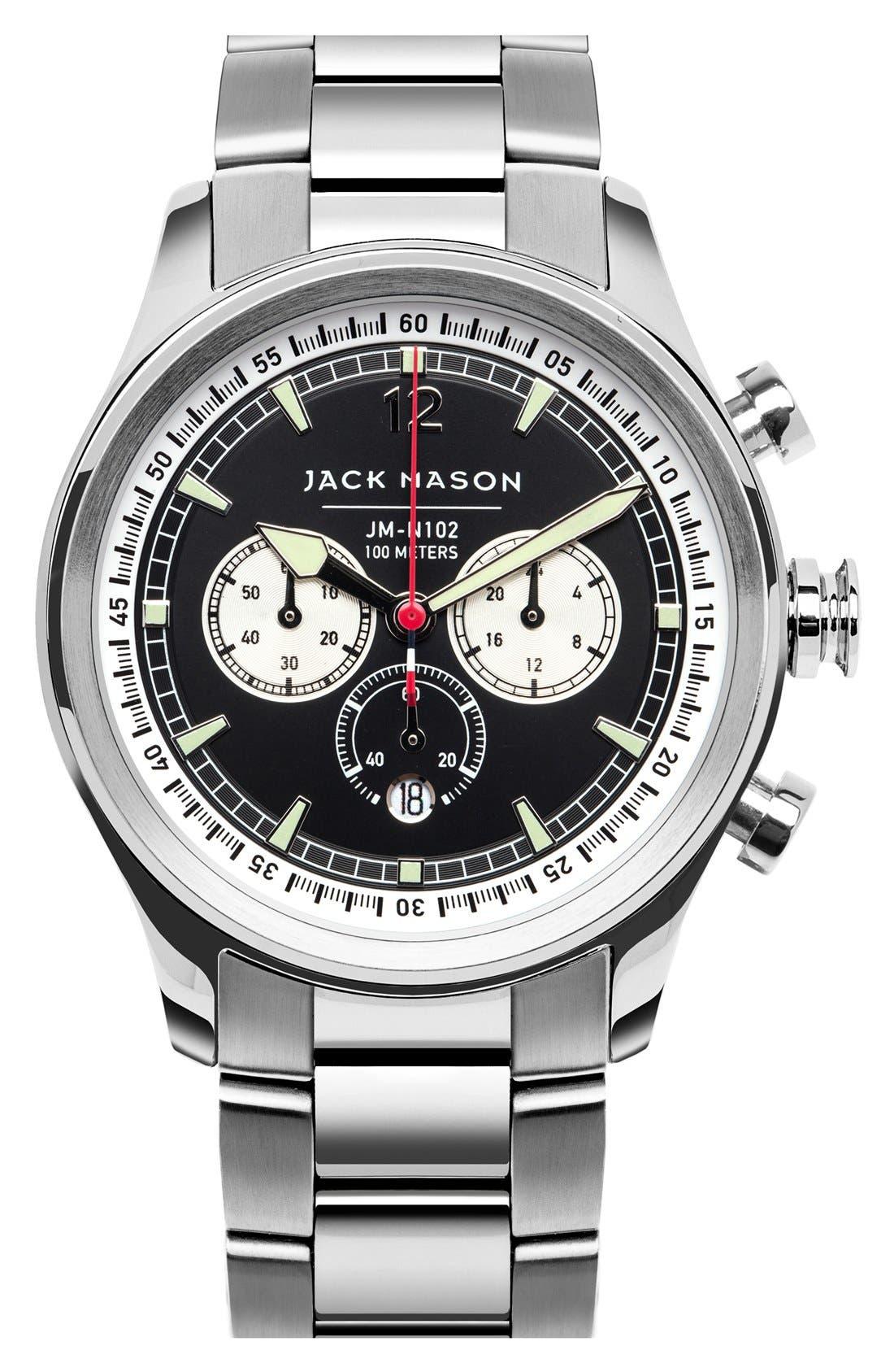 Main Image - Jack Mason Nautical Chronograph Bracelet Watch, 42mm