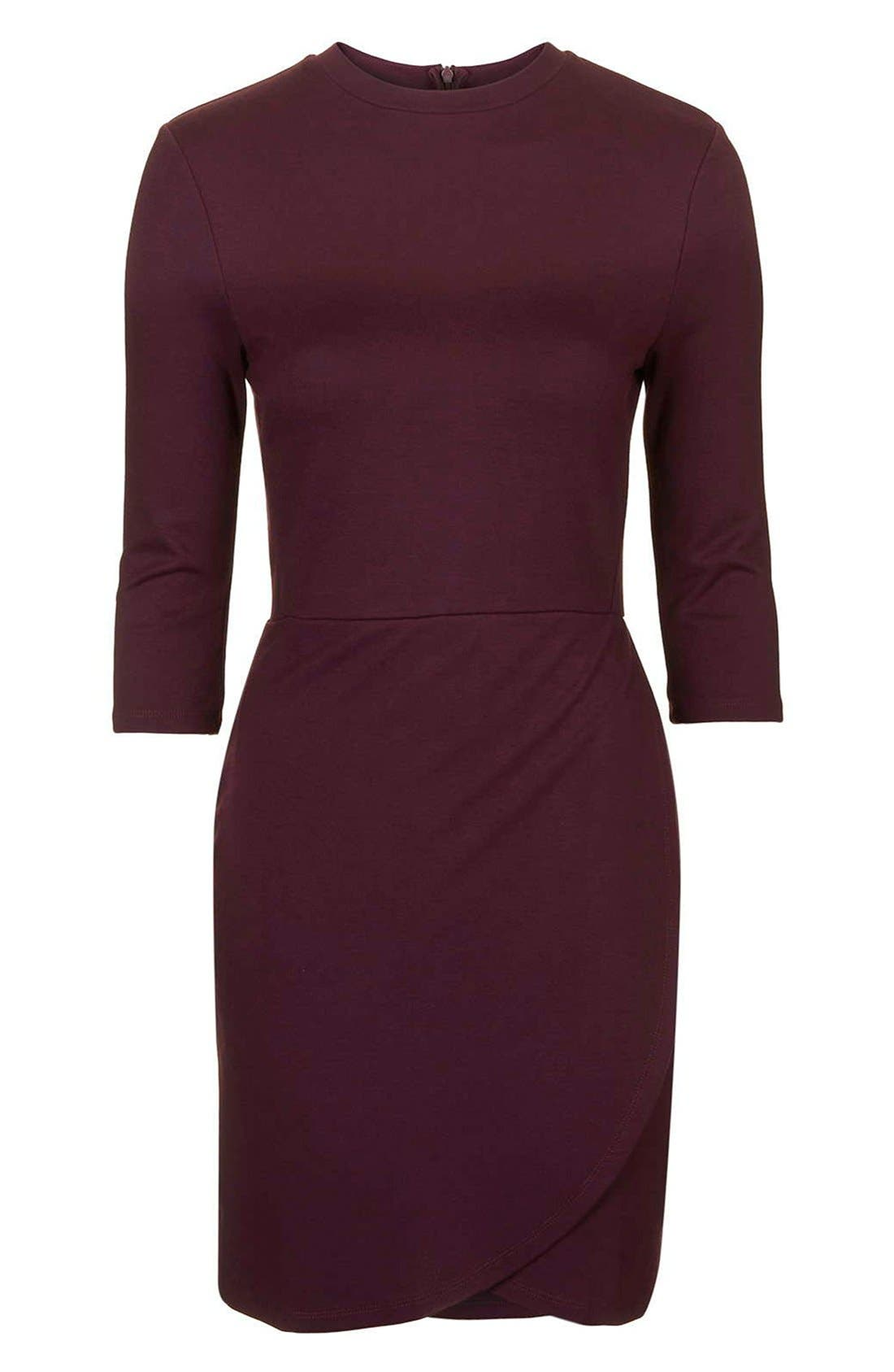 Alternate Image 4  - Topshop Faux Wrap Body-Con Dress