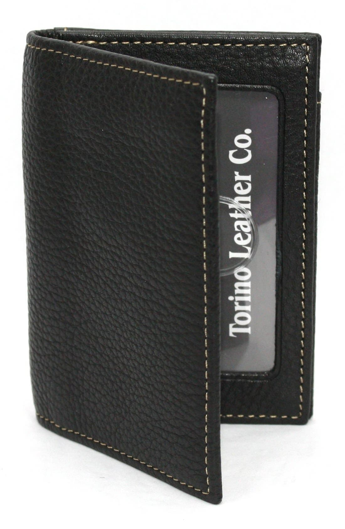 Alternate Image 1 Selected - Torino Belts Leather Card Case