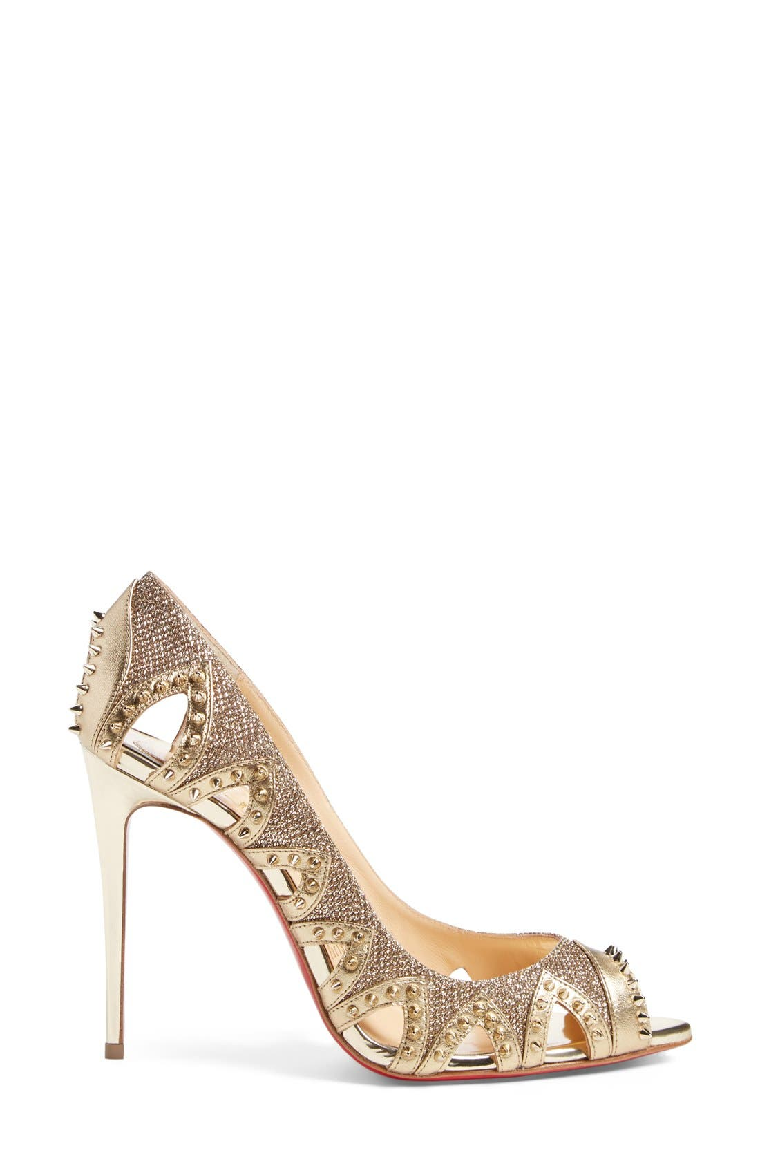 Alternate Image 4  - Christian Louboutin 'Pinder City' Peep Toe Pump