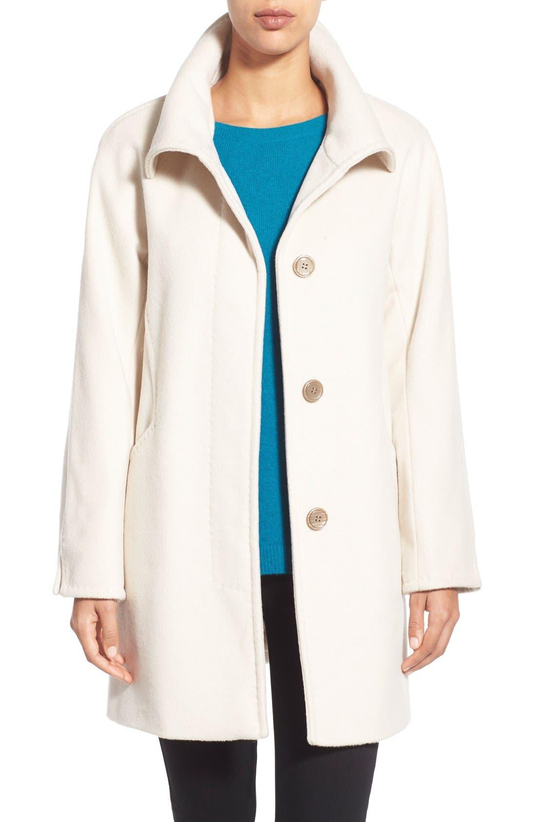 Alternate Image 1 Selected - Ellen Tracy Convertible Collar Kimono Sleeve Coat (Regular & Petite) (Nordstrom Exclusive)