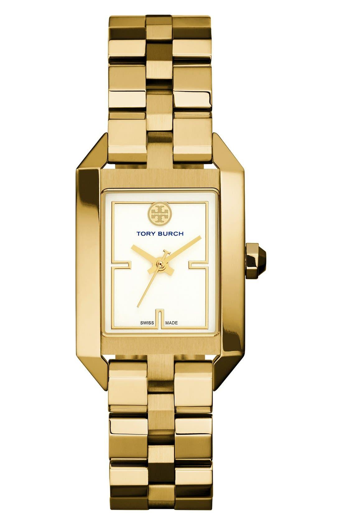 Alternate Image 1 Selected - Tory Burch 'Dalloway' Bracelet Watch, 23mm x 35mm