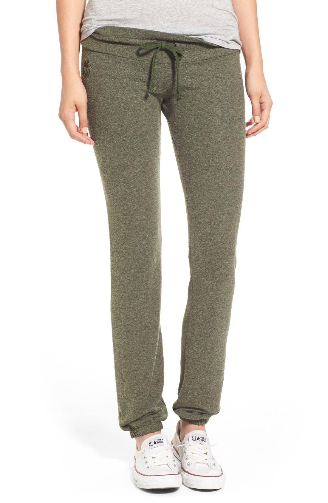 Main Image - Wildfox 'Basics - Malibu' Skinny Jogging Pants