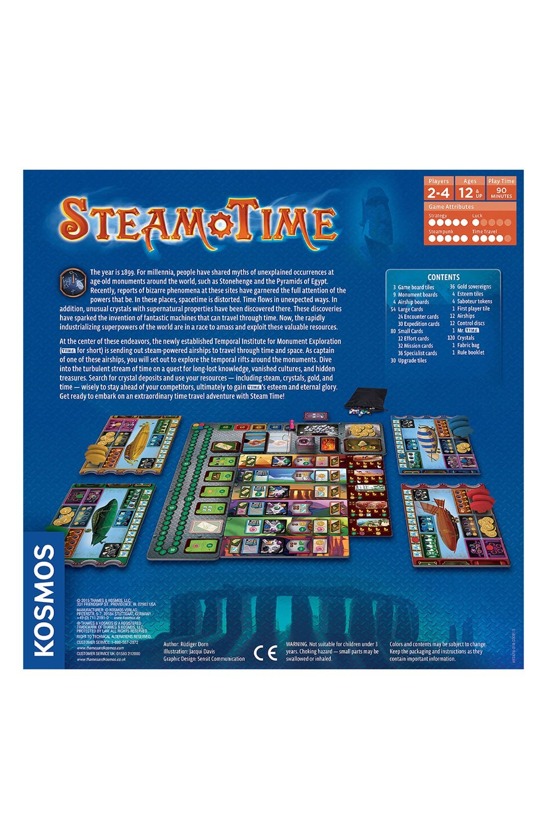 'Steam Time' Board Game,                             Alternate thumbnail 2, color,                             Blue