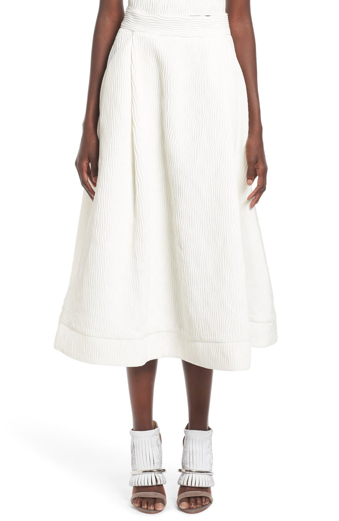 Alternate Image 1 Selected - C/MEO Collective 'Stay Close' Wavy Pleat Midi Skirt