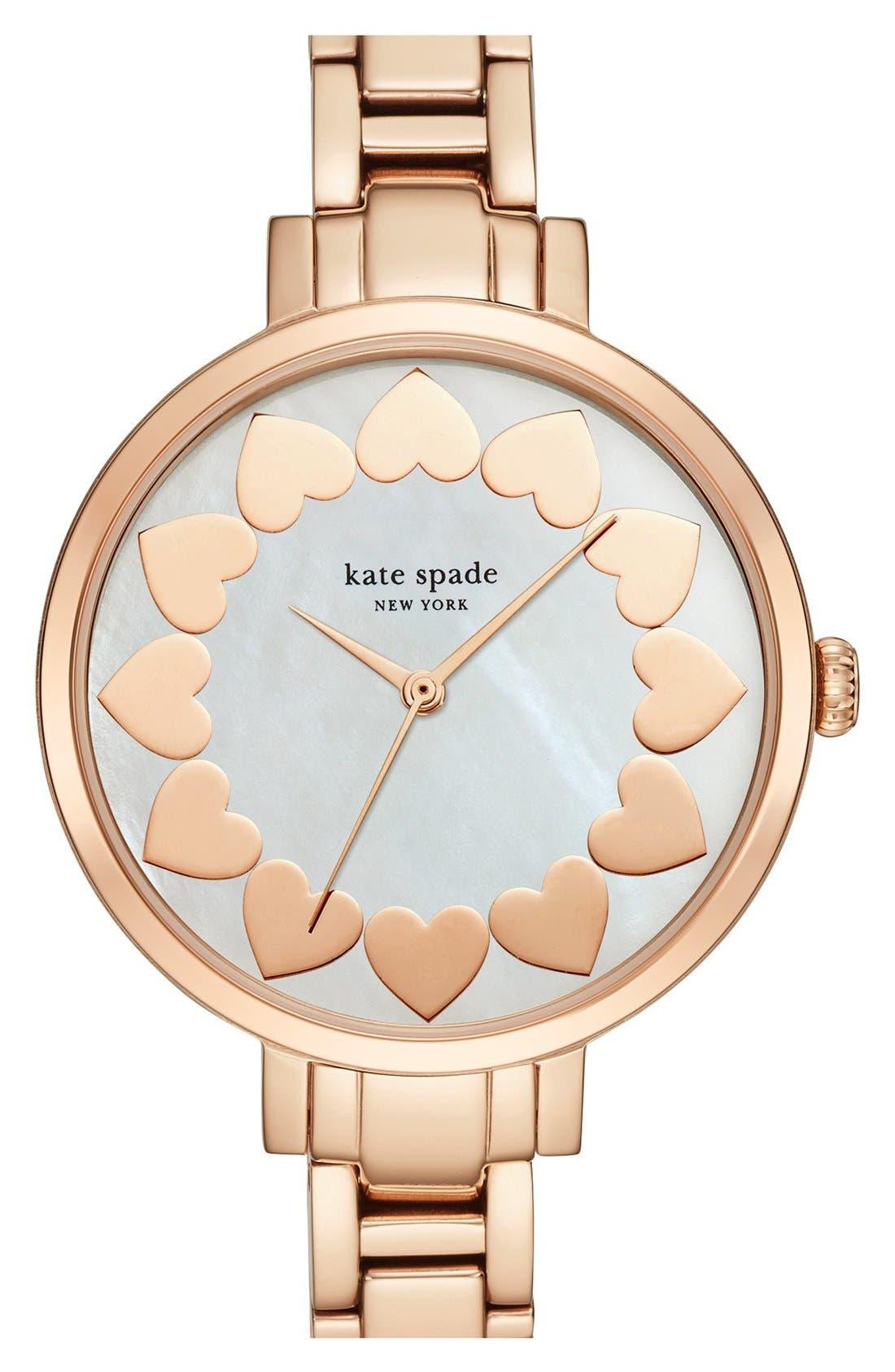 Alternate Image 1 Selected - kate spade new york bracelet watch, 34mm