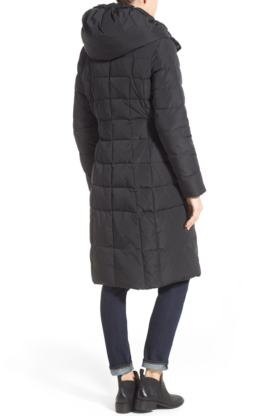 Cole Haan Bib Insert Down & Feather Fill Coat,                             Alternate thumbnail 2, color,                             Black