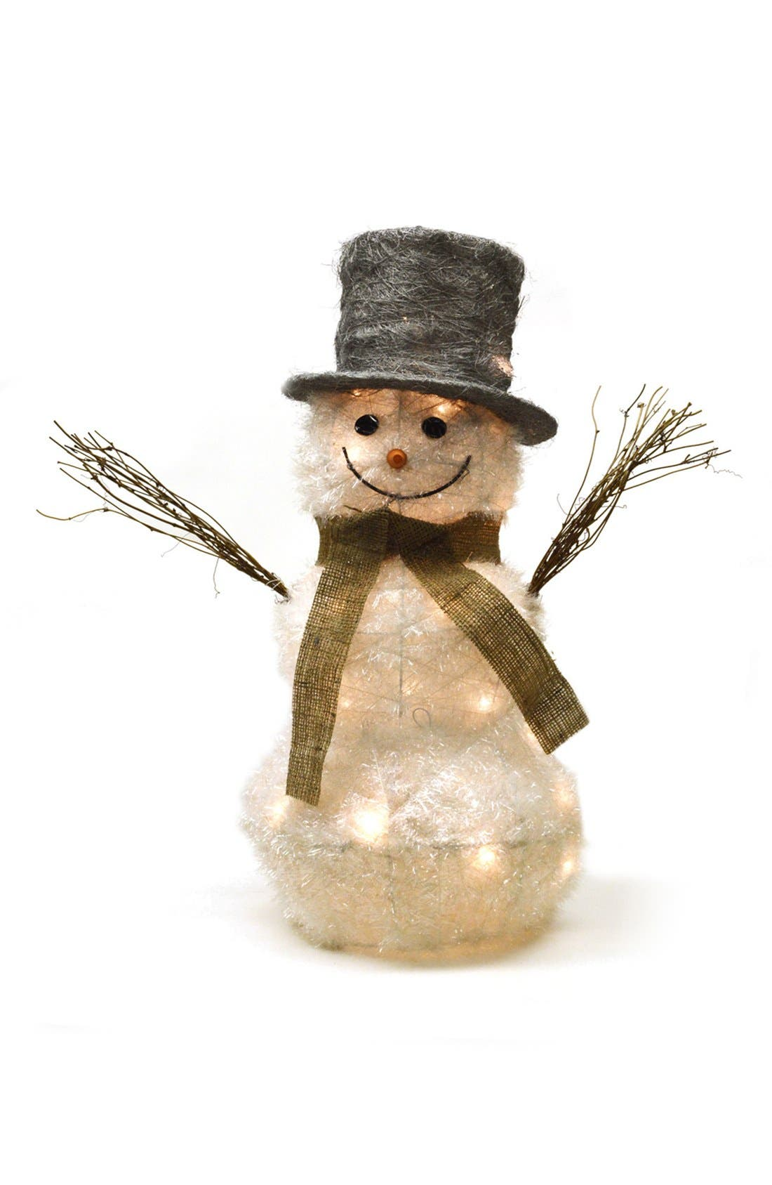 Alternate Image 1 Selected - Shea's Wildflower 'Frosty - Ready For Winter' Lighted Snowman Figurine