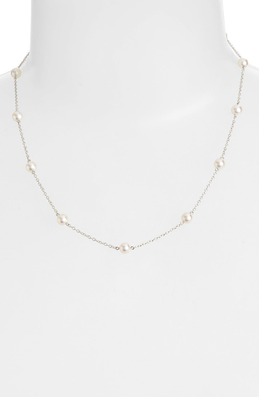 Chain & Pearl Necklace,                         Main,                         color, No Color