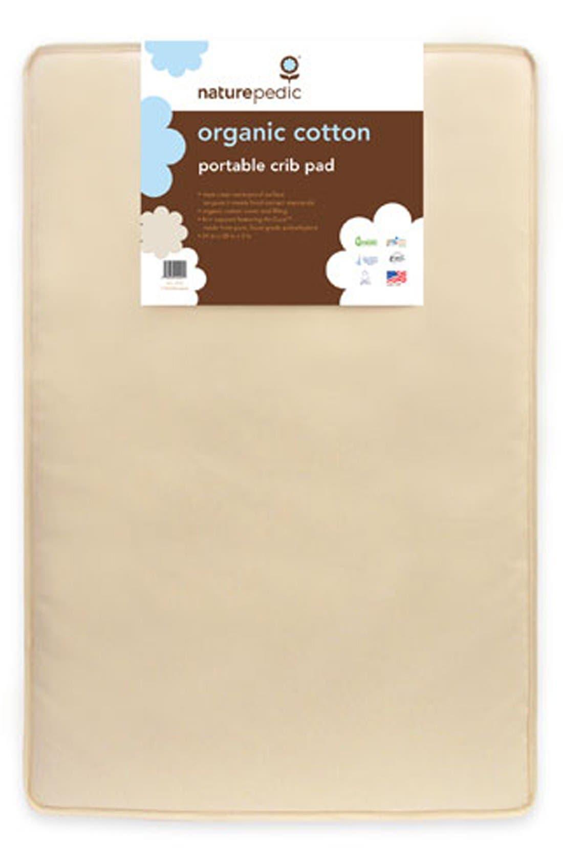 Alternate Image 2  - Naturepedic Organic Cotton Portable Crib Pad