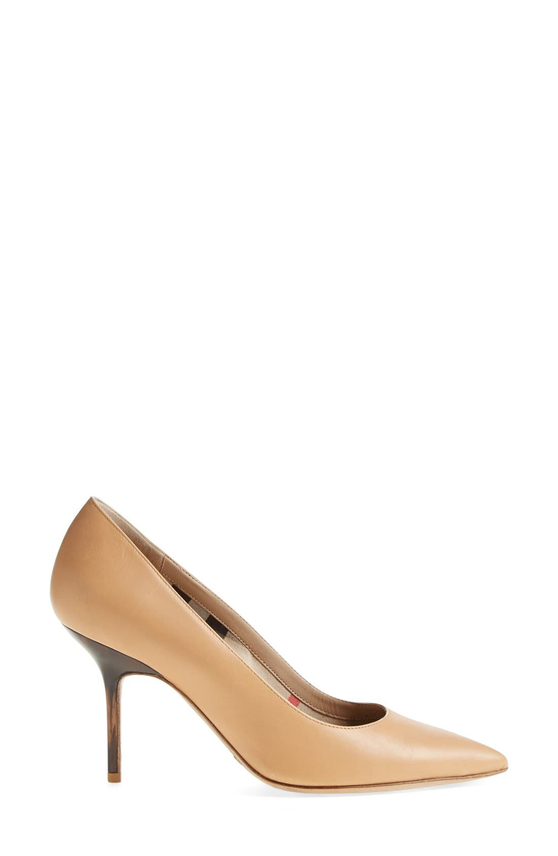 'Mawdesley' Pointy Toe Pump,                             Alternate thumbnail 4, color,                             Nude