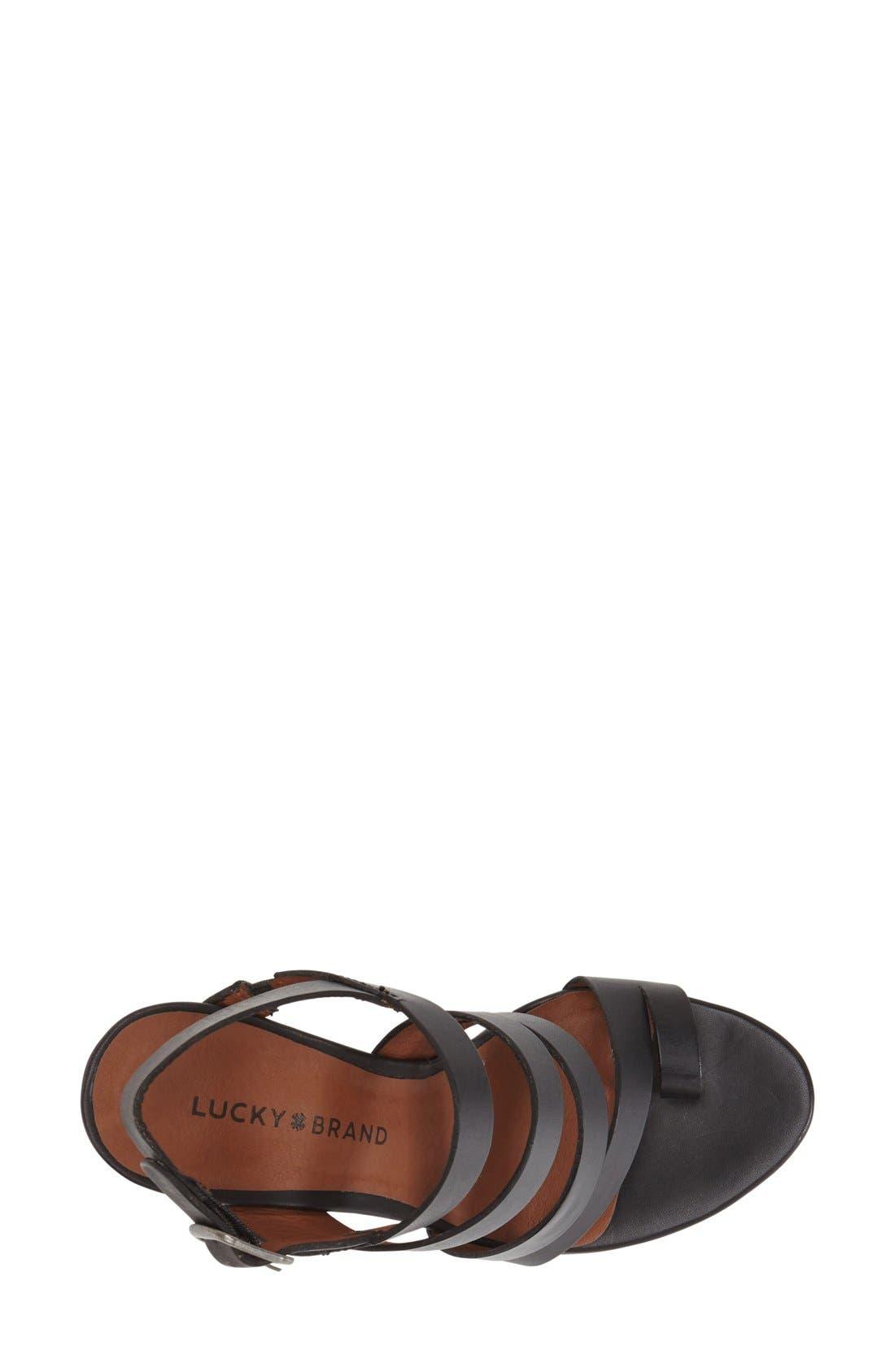 Alternate Image 3  - Lucky Brand 'Fairfina' Wedge Sandal (Women)