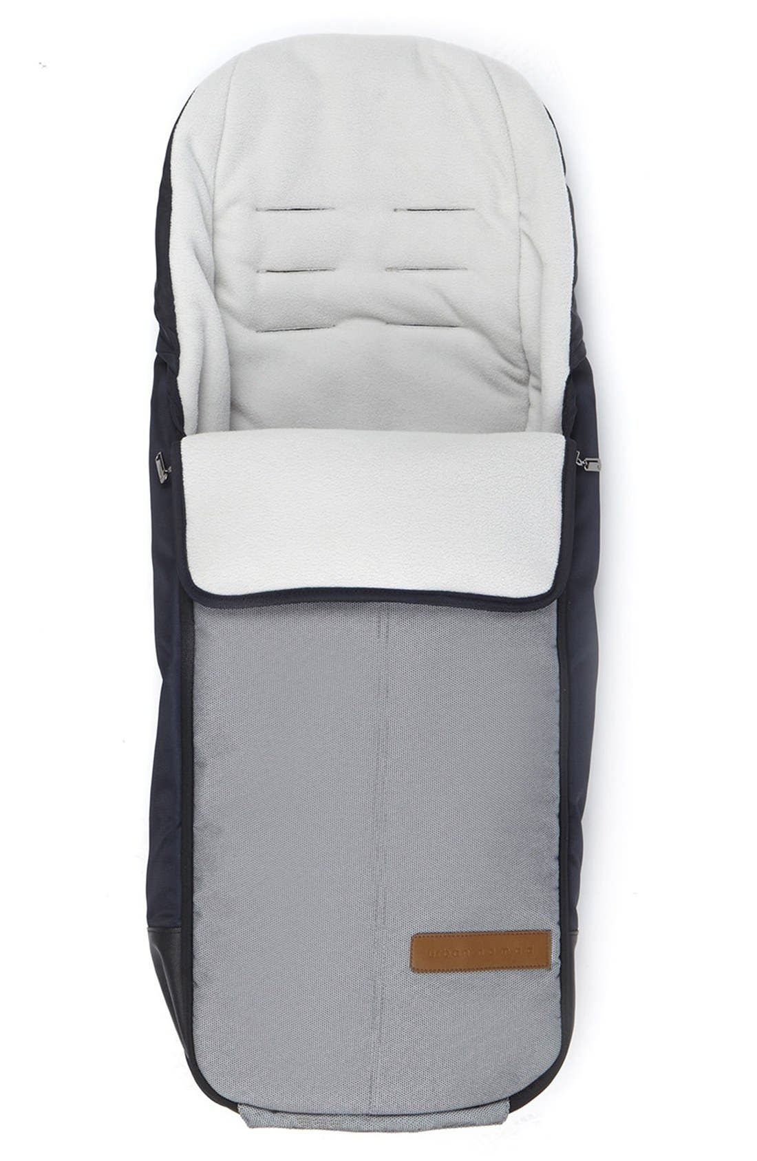 'Igo - Urban Nomad' Water Resistant Footmuff,                         Main,                         color, White/ Blue