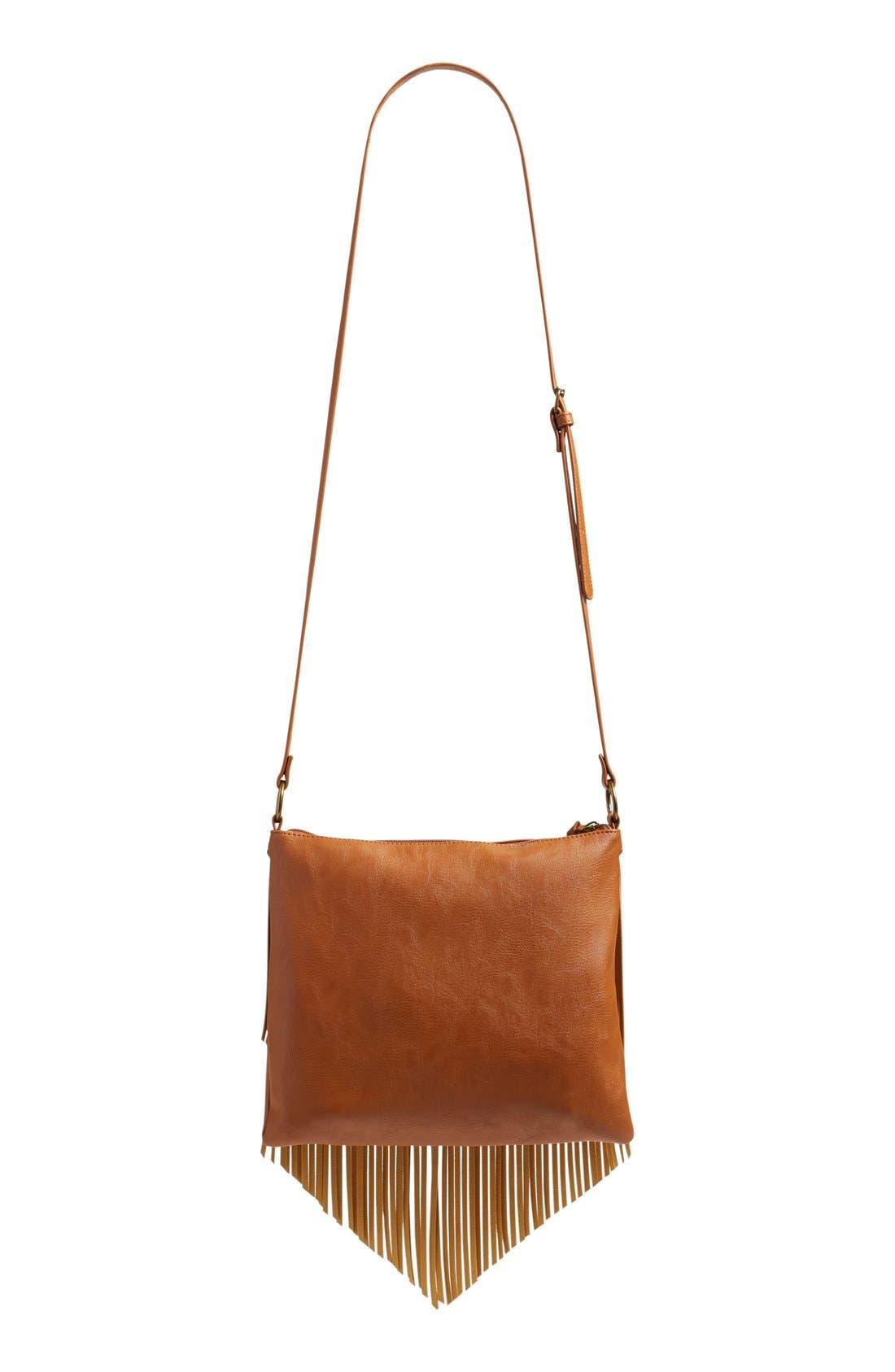 Alternate Image 3  - BP. Layered Fringe Crossbody Bag