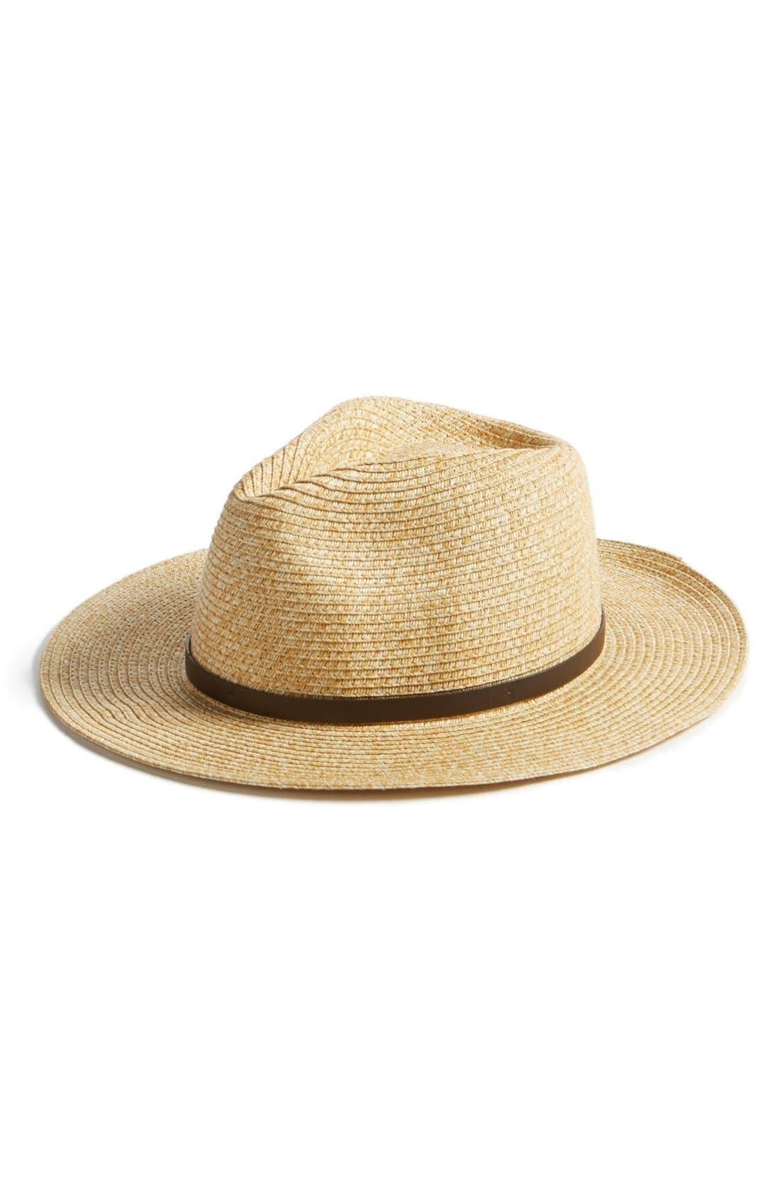 August Hat Straw Fedora