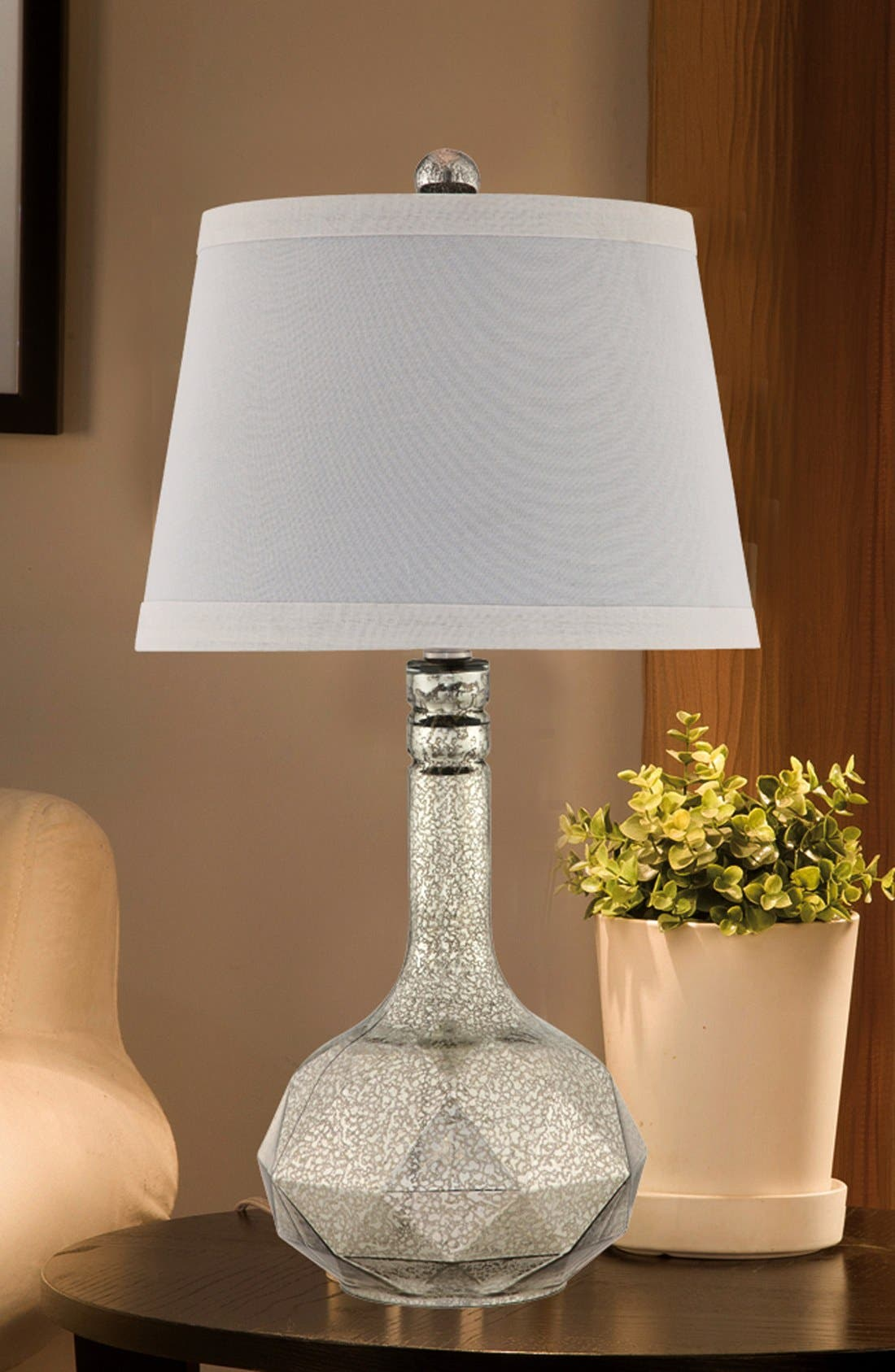 Mercury Glass Table Lamp,                             Alternate thumbnail 2, color,                             Silver/ Brushed Nickel