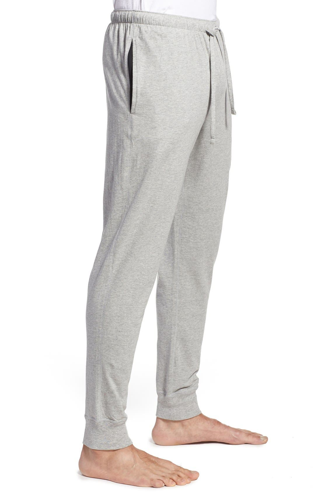 Relaxed Fit Jogger Pants,                             Alternate thumbnail 3, color,                             Andover Heather