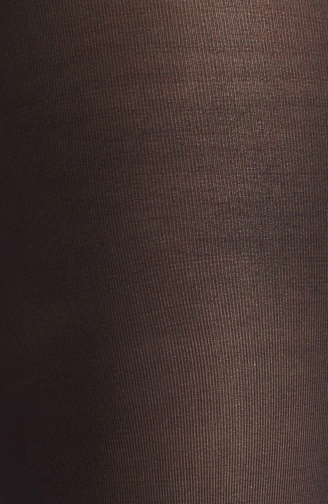 'Semi Opaque' 35 Denier Tights,                             Alternate thumbnail 2, color,                             Black