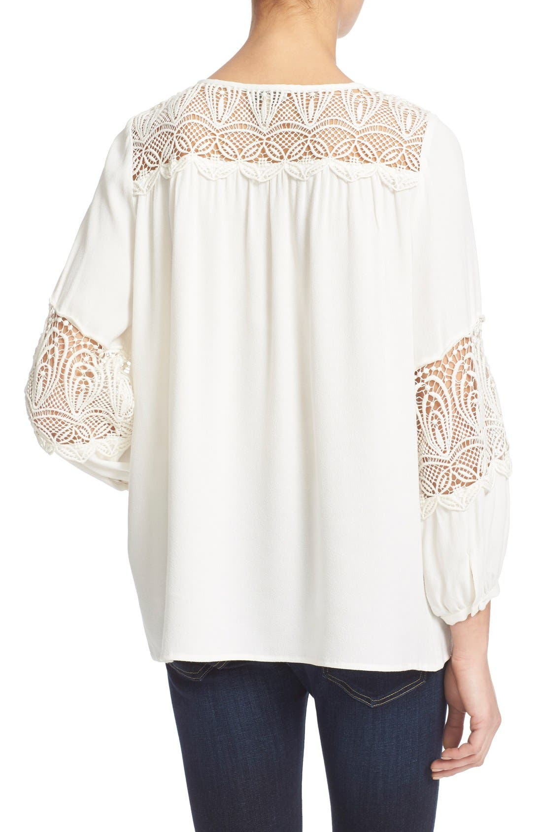 Alternate Image 2  - Joie 'Coastal' Lace Inset Blouse