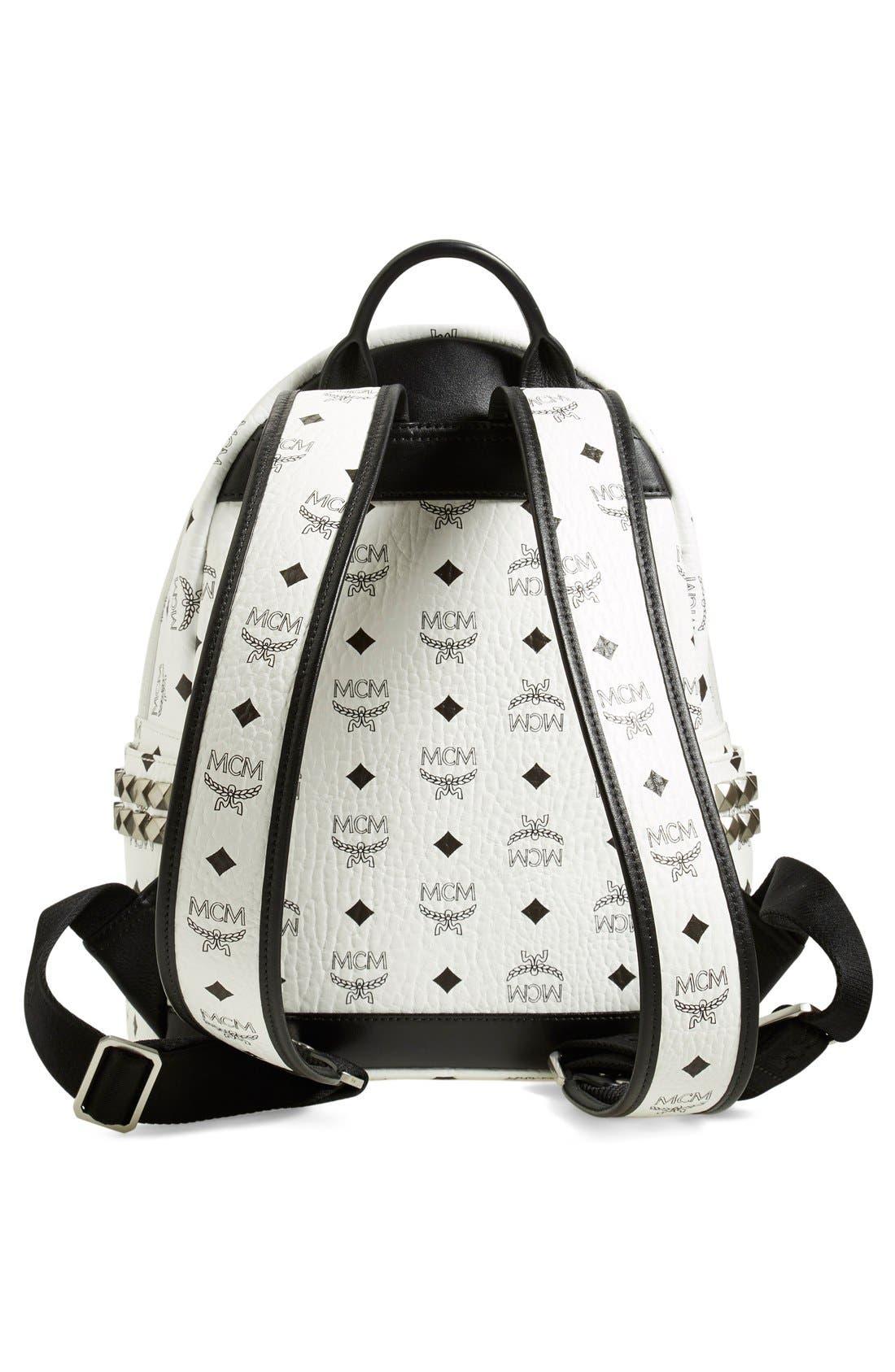 Small Stark Side Stud Backpack,                             Alternate thumbnail 3, color,                             White