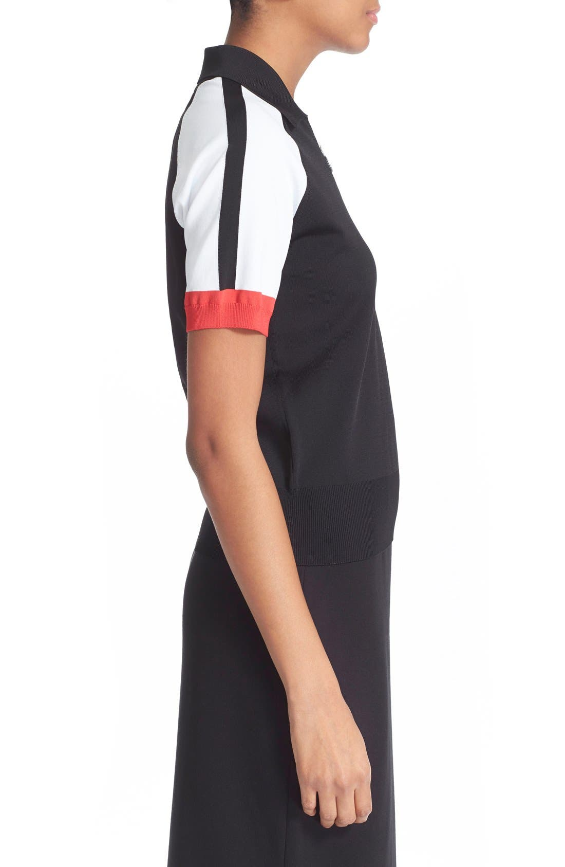 Alternate Image 3  - T by Alexander Wang Colorblock Jersey Polo Top