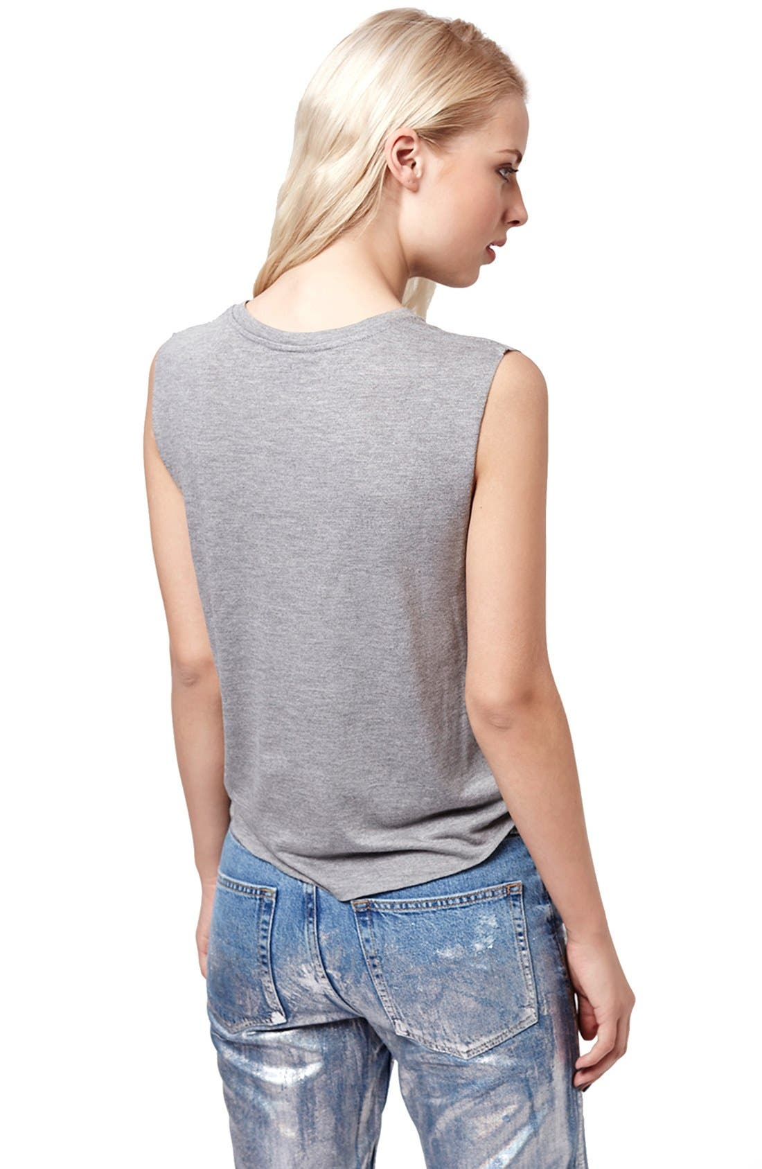 Alternate Image 3  - Topshop Relaxed Fit Pocket Tank