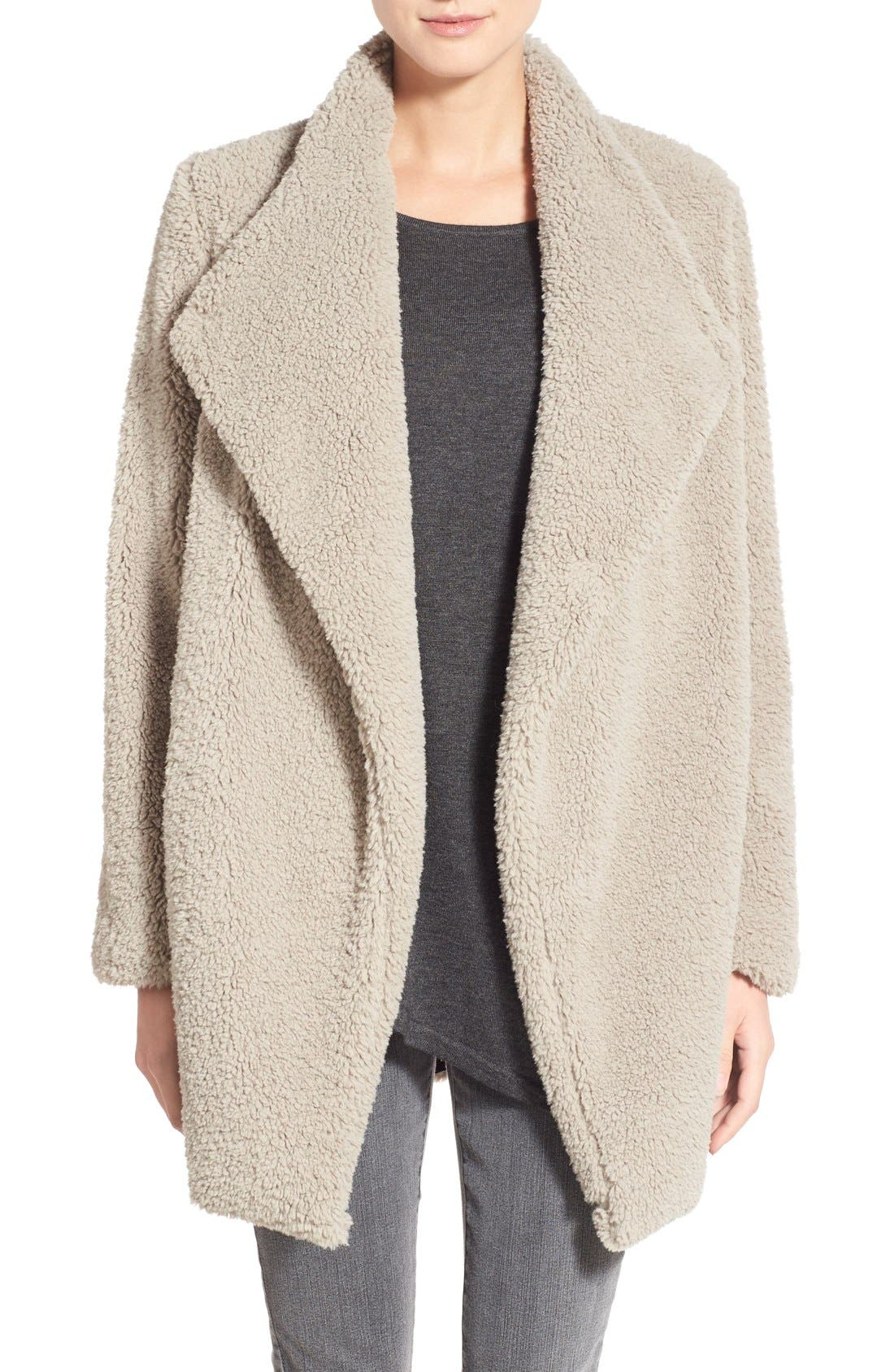 Main Image - BB Dakota 'Daylin' Faux Fur One Button Coat