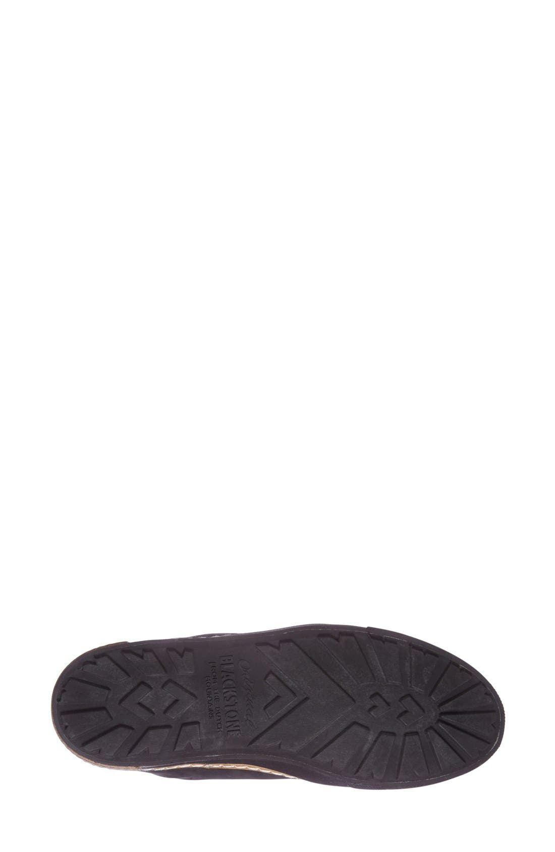 Genuine Calf Hair Zip Chukka Boot,                             Alternate thumbnail 4, color,                             Black Leather