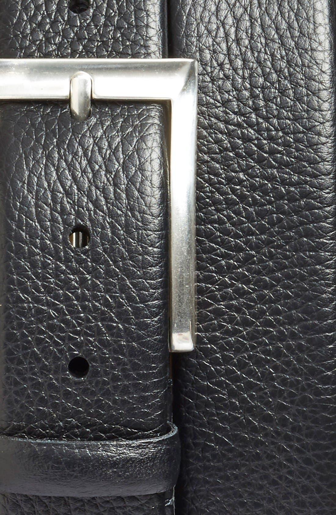 'Tribeca' Leather Belt,                             Alternate thumbnail 2, color,                             Black Tribeca