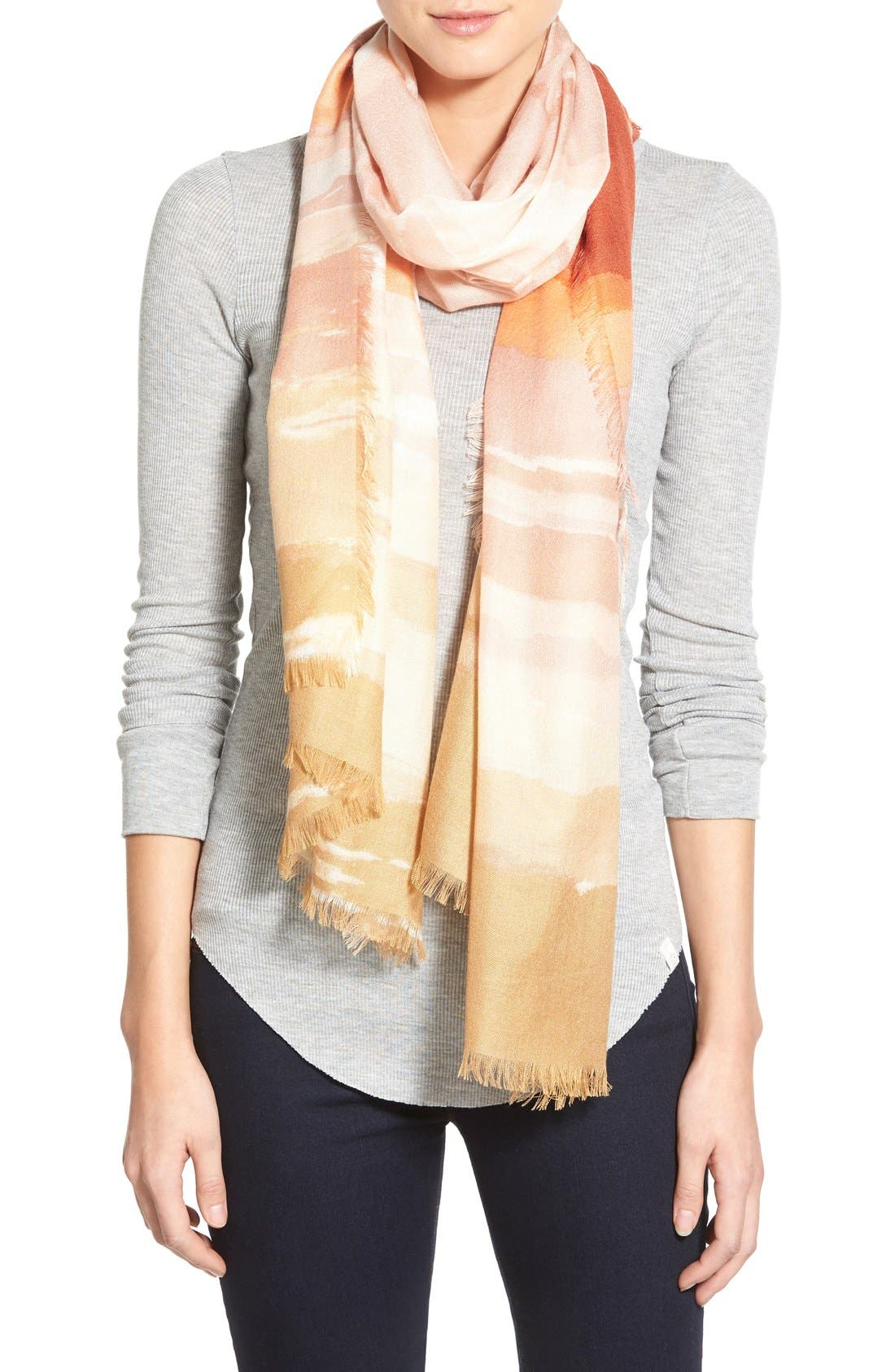 Alternate Image 1 Selected - Nordstrom 'Watercolor Block' Cashmere & Silk Scarf
